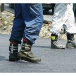 欧米の安全基準クリア<br/>ビルメン業向け安全靴も製造